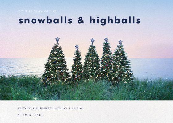 Christmas Trees - Gray Malin - Holiday invitations