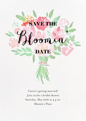 Save the Bloomin' Date - Crate & Barrel