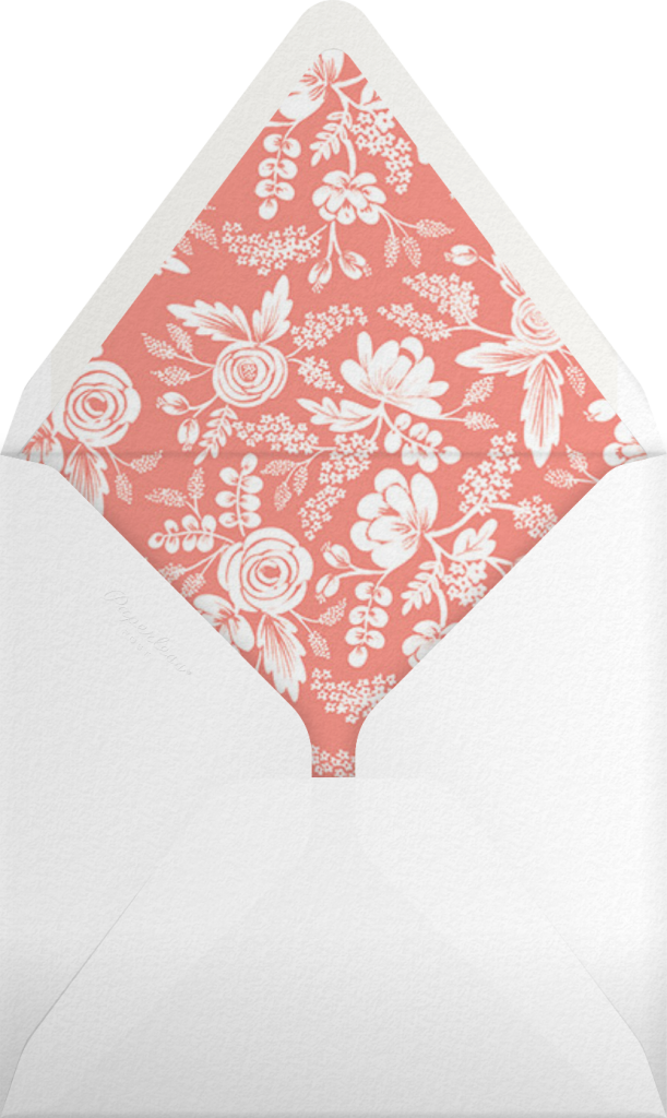 Heather and Lace (Save the Date) - Silver - Rifle Paper Co. - Envelope