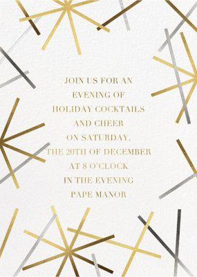 Snowflake Confetti - Paperless Post - Holiday invitations