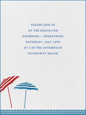 Beach Umbrellas - Paperless Post