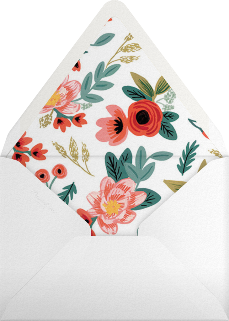 Woven Wildflowers - Green - Rifle Paper Co. - Envelope