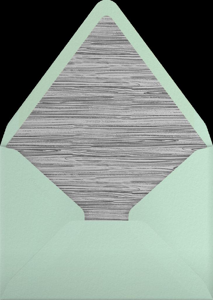 Wood Grain Color Block - Mint - Paperless Post - Envelope