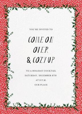 Holly on the Banister (Invitation) - Mr. Boddington's Studio - Holiday invitations