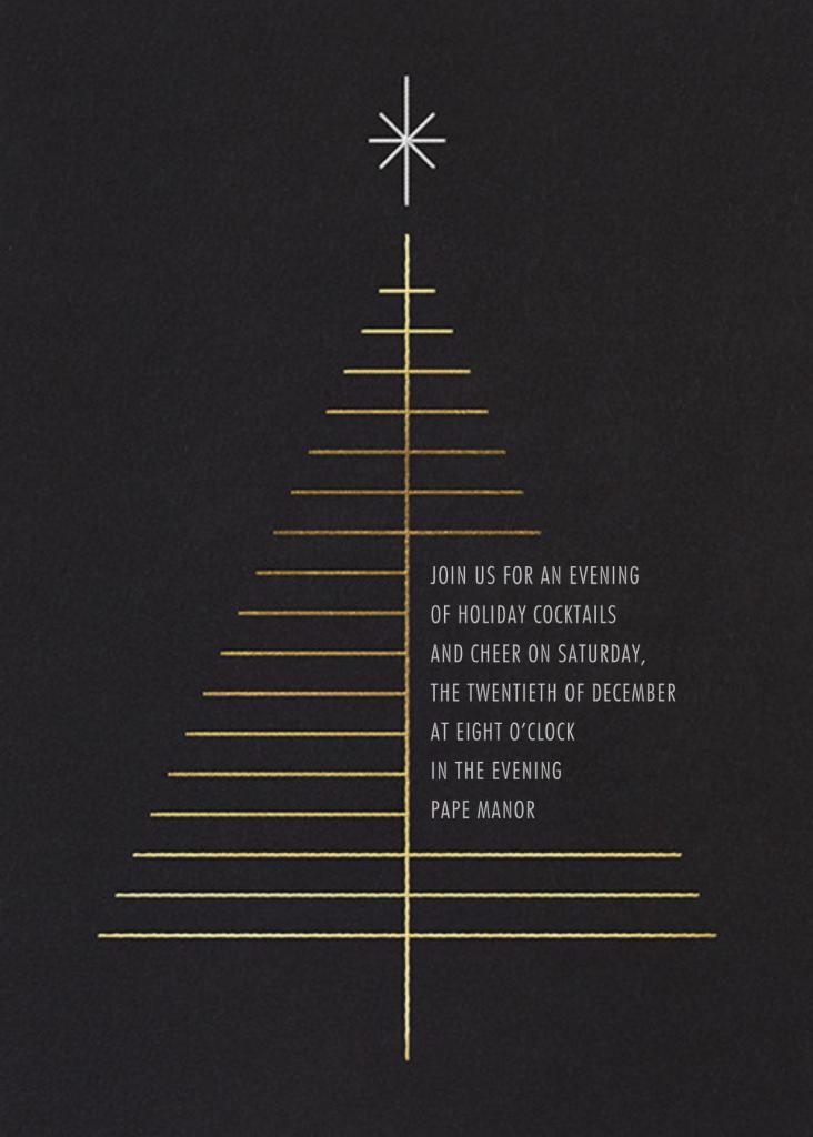 Tree Topper - Black - Paperless Post