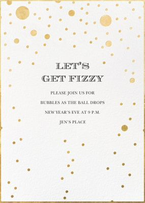Champagne Bubbles (Single-Sided) - kate spade new york - New Year's Eve Invitations