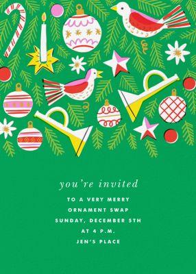 Hanging Around - Hello!Lucky - Holiday invitations