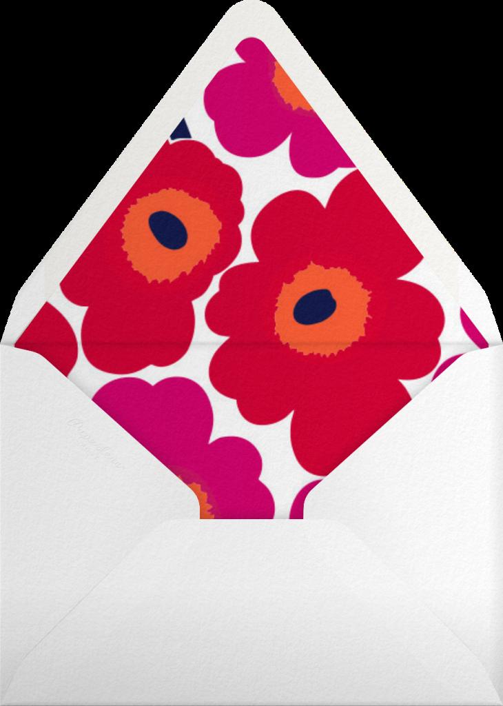 Unikko (Tall) - Red - Marimekko - Envelope