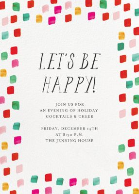 Holiday Palette - Mr. Boddington's Studio - Holiday invitations