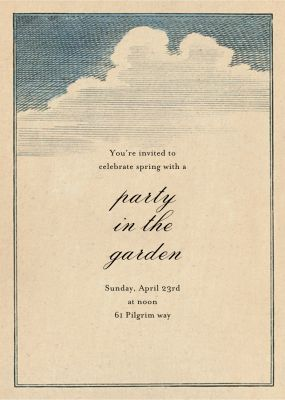Clouds - John Derian - Spring Party Invitations