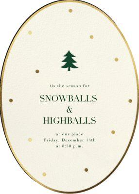 Trim Little Tree - Sugar Paper - Holiday invitations