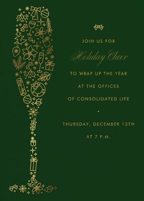 Golden Glass - Paperless Post - Holiday invitations