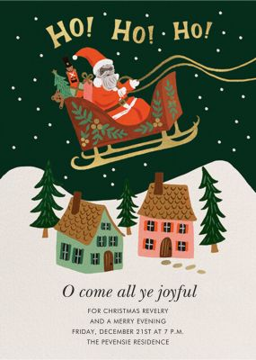 Christmas Delivery - Rifle Paper Co. - Holiday invitations