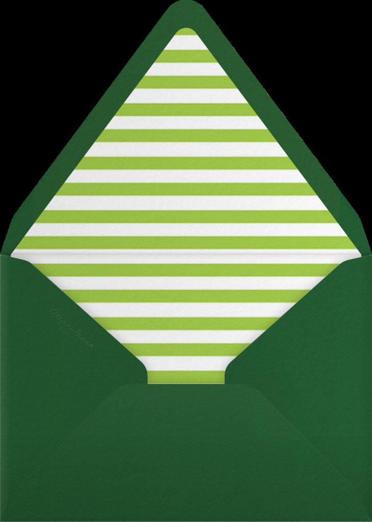 Gradient Full (Tall) - Green - Paperless Post - Envelope