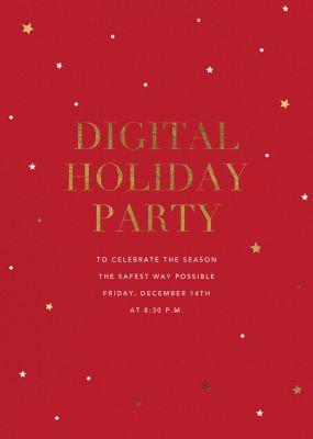 Sky Lights - Sugar Paper - Holiday invitations