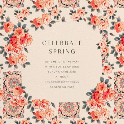Rose Chintz - Anthropologie - Spring Party Invitations
