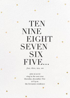 New Year Countdown - Sugar Paper