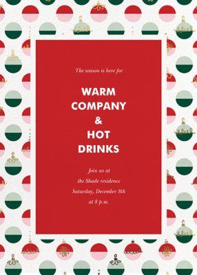 Dipped Ornaments - kate spade new york - Holiday invitations