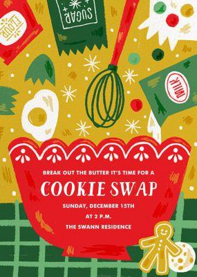 Ready Set Bake - Paperless Post - Cookie swap invitations