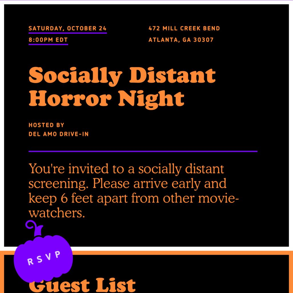 Scary Movie Night