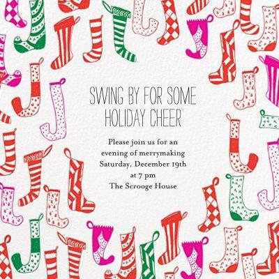 Clementine in My Stocking - Mr. Boddington's Studio - Holiday invitations