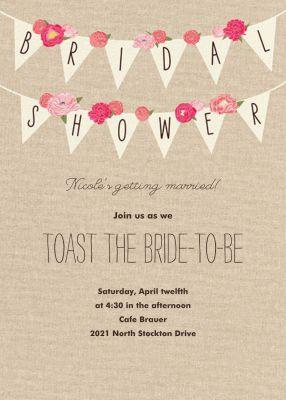 Rustic Banner - Paper Source - Printable Invitations