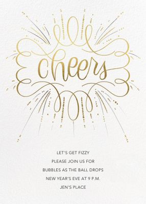 Curlicue Cheers - Paperless Post