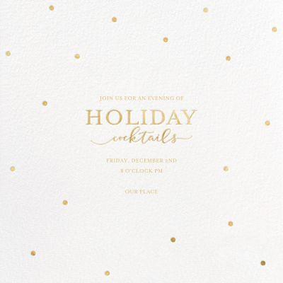Cocktail Dots - Sugar Paper - Holiday invitations