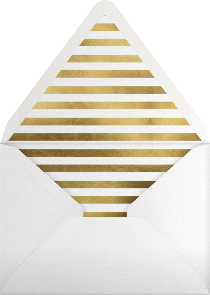 Champagne Bubbles - Gold - Paperless Post - Envelope