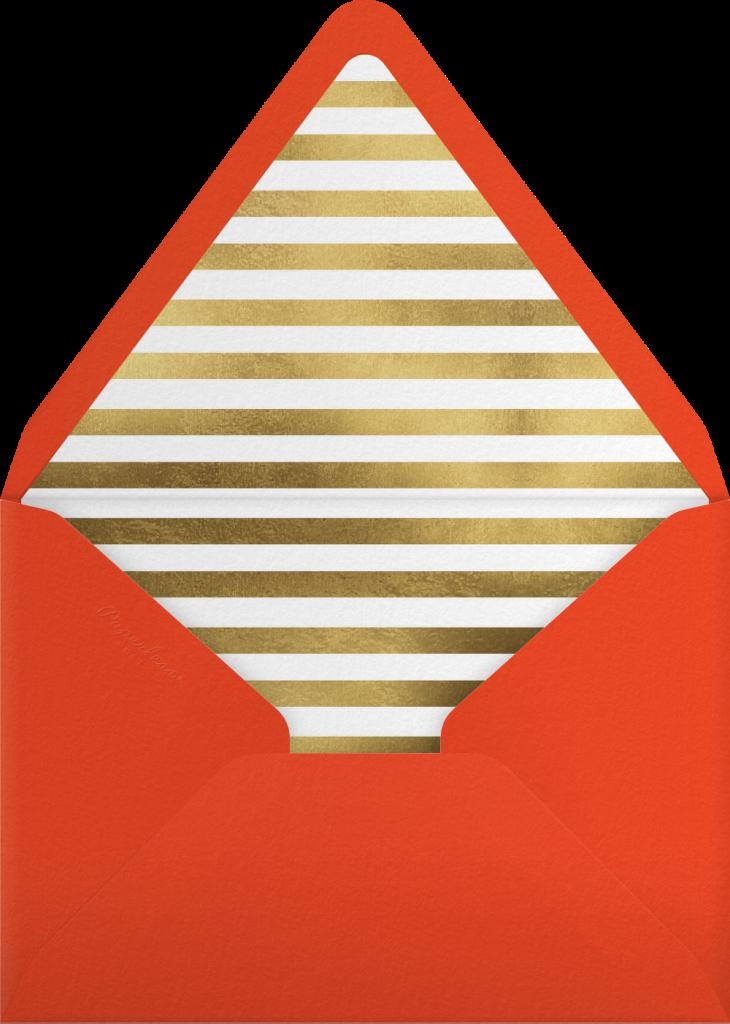 Reindeer Cocktails - Gold - kate spade new york - Envelope