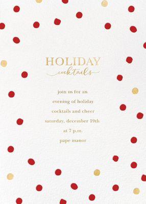 Holiday Spots - Sugar Paper - Holiday invitations