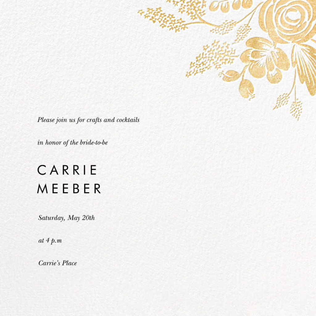 Heather and Lace (Save the Date) - Gold - Rifle Paper Co.