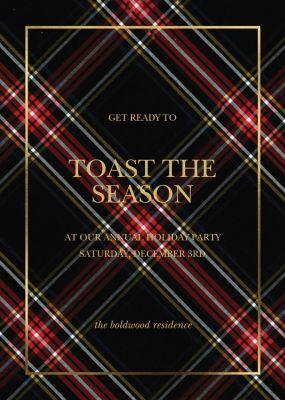 Tartan Wrap - Sugar Paper - Holiday invitations