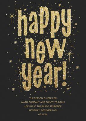 Glitter and Glee (New Years) - Paperless Post