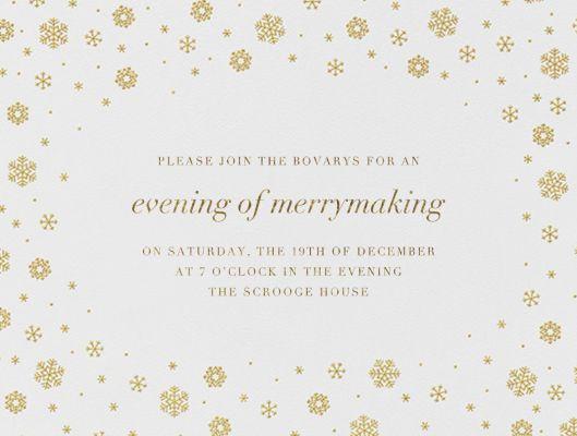White Out I - Paperless Post - Holiday invitations