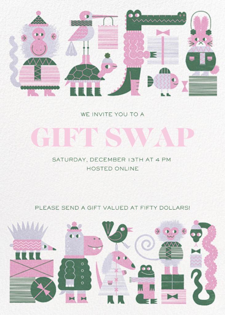 Gift Swap - Mauve - Paperless Post