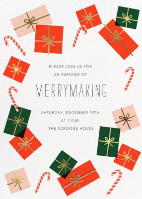 Freestyle Wrapping - Hello!Lucky - Holiday invitations
