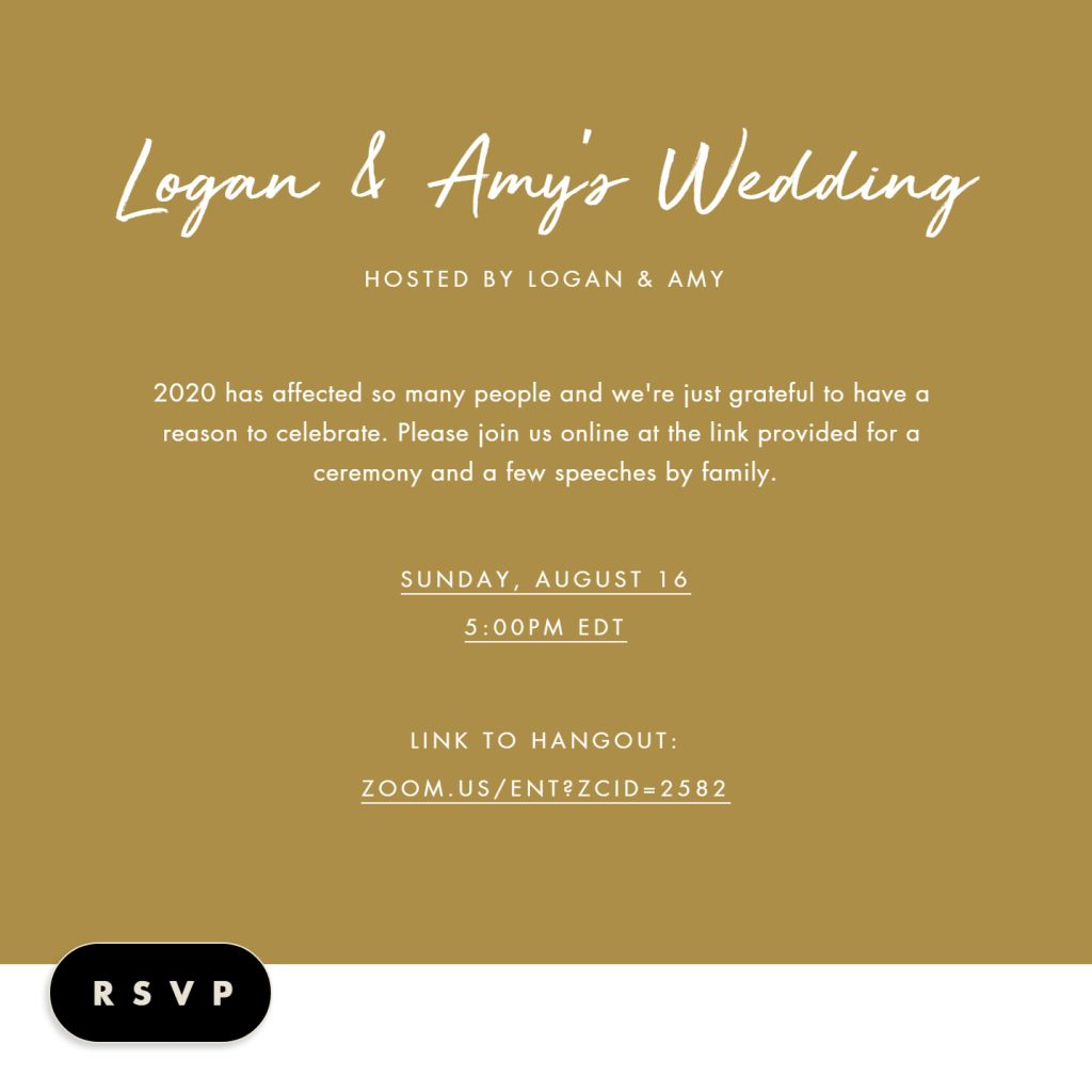 Our Virtual Wedding