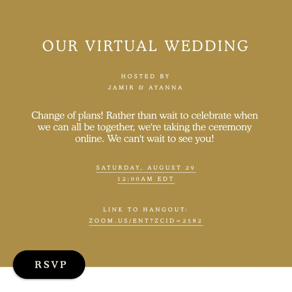 Virtual Ceremony