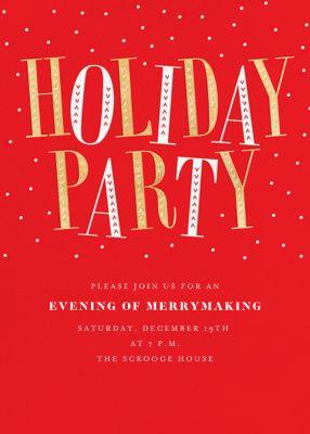 Jaunty Party - Paperless Post - Holiday invitations