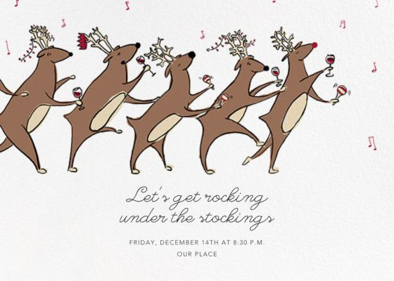 Reindeer Hop - Paperless Post - Holiday invitations