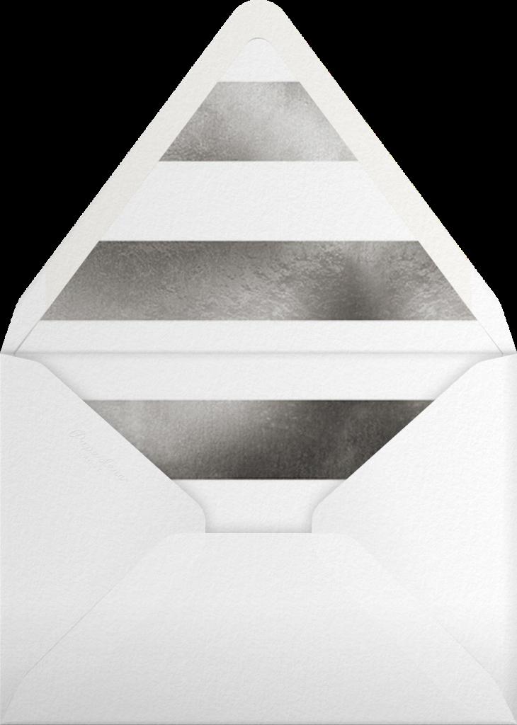 Luminous Heart - Pacific/Silver - Sugar Paper - Envelope