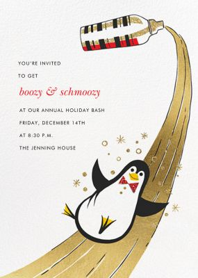 Season's Slip-and-Slide - Paperless Post - Holiday invitations