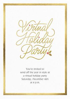 Spirited Script - Virtual - Paperless Post - Holiday invitations