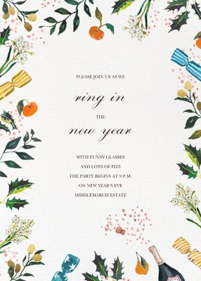 A Cracking Good Time - Happy Menocal - Holiday invitations