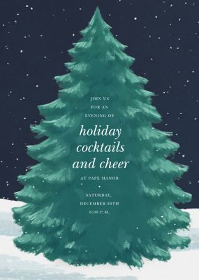 The Great Tree - Paperless Post - Holiday invitations
