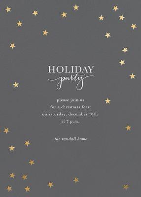 Starry Holidays - Sugar Paper - Holiday invitations