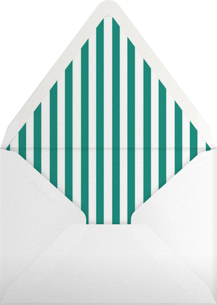 Hot Air Balloon Cluster- White/Amazon - Paperless Post - Envelope