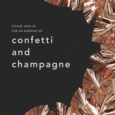 Shimmer - CONFETTISYSTEM - New Year's Eve Invitations
