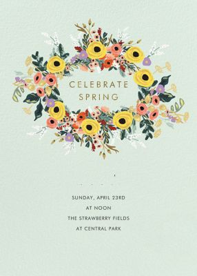 Buttercup Garland - Rifle Paper Co. - Spring Party Invitations
